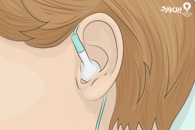 نگه داشتن هندزفری در گوش 1