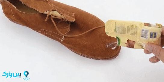 تمیز کردن کفش جیر با جوش شیرین