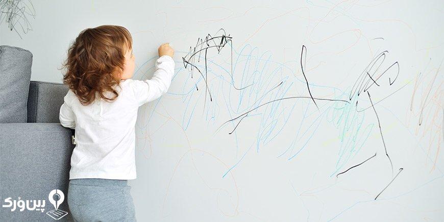 از بین بردن لکه جوهر از روی دیوار | پین ورک