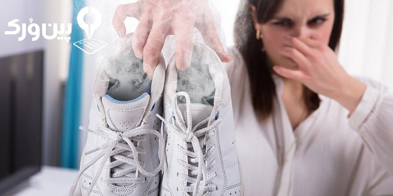 ازبین بردن بوی کفش