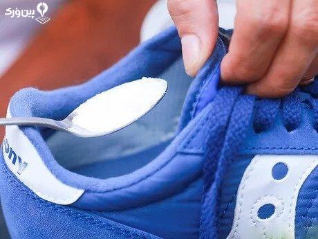 استفاده از جوش شیرین برای از بین بردن بوی کفش