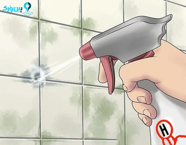 شستشو سرویش بهداشتی با هیدروژن پراکسید