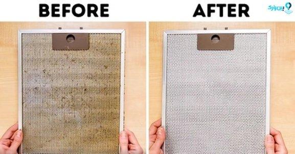 تمیز کردن فیلتر هود