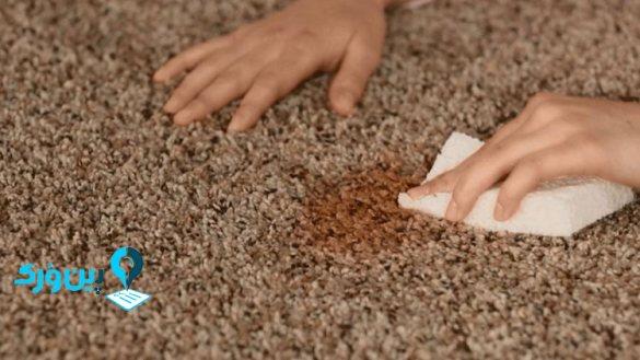 ساده ترین راه برای از بین بردن لکه میوه از روی فرش