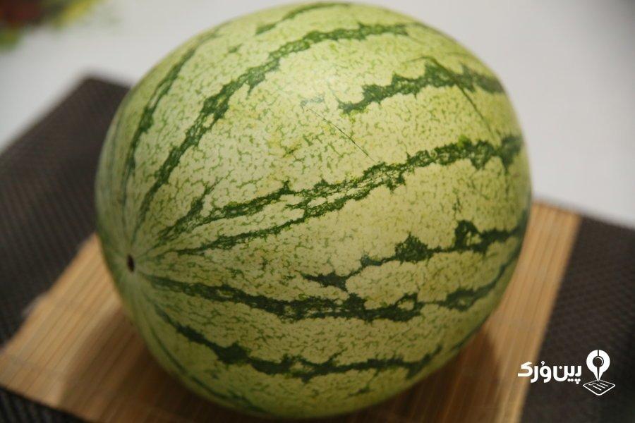 تشخیص شکل هندوانه خوب و رسیده