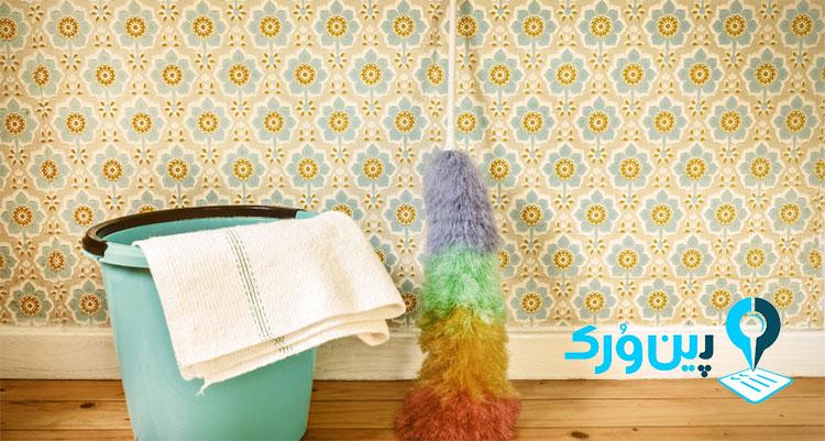 از بین بردن لکه میوه از روی کاغذ دیواری راحت