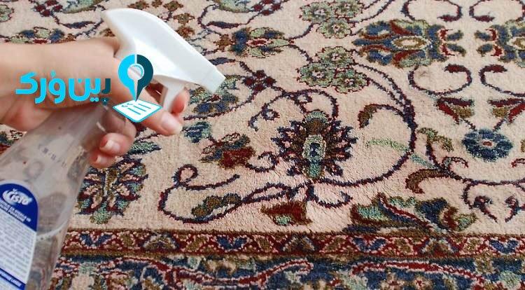پاک کردن لکه سس از روی فرش با سرکه سفید