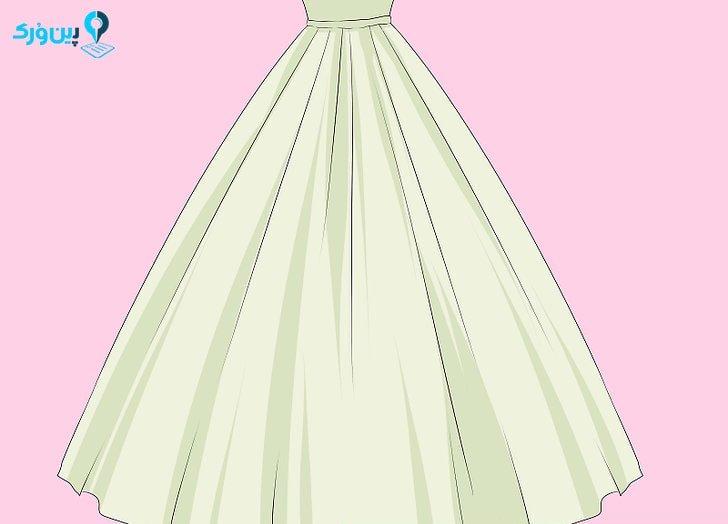 لباس عروس برای بلندتر نشان دادن قد