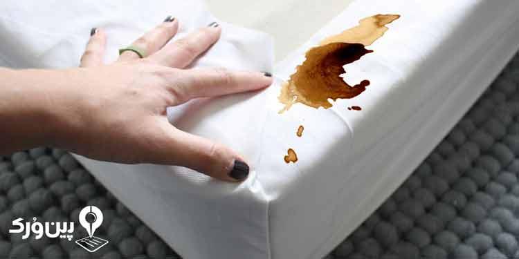 از بین بردن لکه قهوه از روی تشک