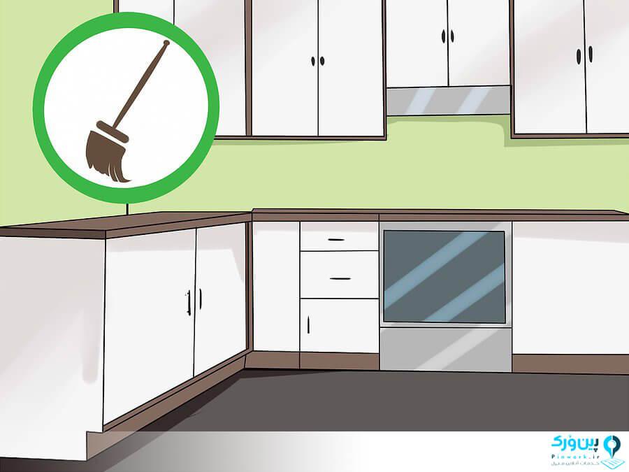 هر سه ماه یکبار کابینت و کشوها را تمیز کنی