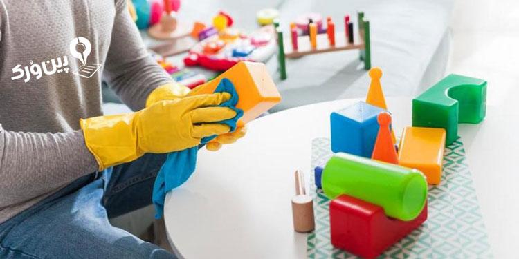 نحوه تمیز کردن اسباب بازی و عروسک کودکان