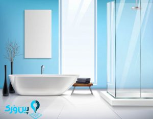 پاک کردن لکه های آب از روی شیشه حمام