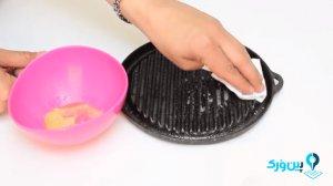 پاک کردن ظرف چدنی