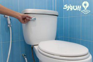 تمیز کردن توالت و سرویس بهداشتی