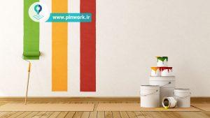 رنگ کردن دیوار اتاق