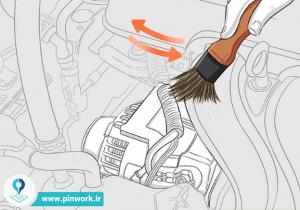 تمیز کردن موتور ماشین