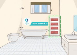 چیدن فضای داخل حمام