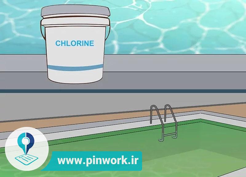 آزمایش آب استخر