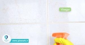 نحوه تمیز کردن کاشی حمام