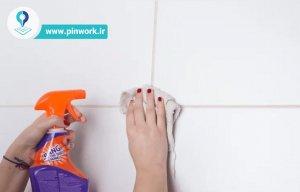 تمیز کردن درز بین کاشی و سرامیک