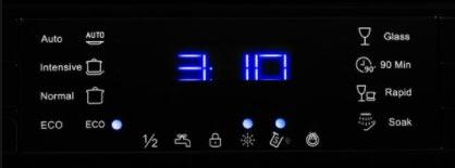 نمایشگر ماشین ظرفشویی کنوود